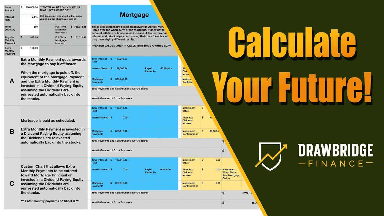 Spreadsheet Investing Vs Extra Mortgage Payments Calculator Spreadsheet Apple Numbers And Excel