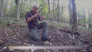 How To Start A Fire Without Matches - Fire By Friction - The Bow Drill