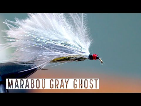 Maribou Grey Ghost Streamer Fly Tying How To | Trident Fly Fishing