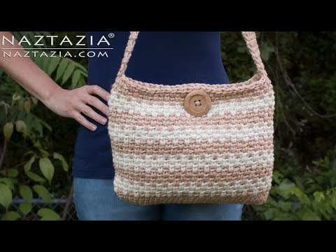 Learn How to Crochet Sweet Simple Handbag – Purse Bolsa Bag DIY Tutorial from Naztazia