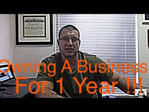 Owning a Business for a year / First Year as a Business Owner / CPA Strength