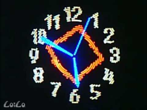 the most amazing RGB propeller clock ever seen