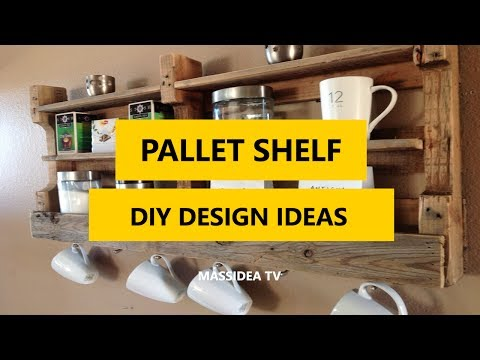 50 Creative Pallet Shelf DIY Design Ideas for Small Room 2017