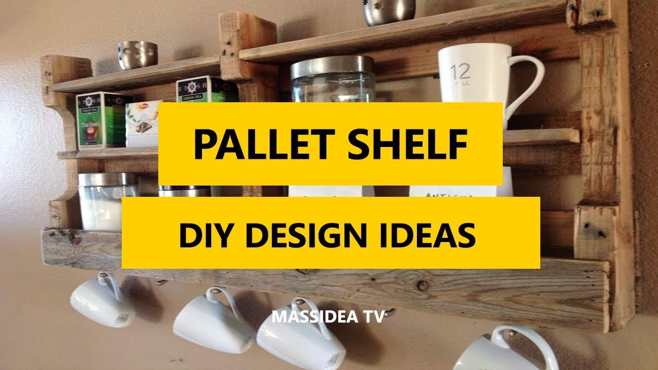 50 Creative Pallet Shelf DIY Design Ideas for Small Room 2017 - YouTube