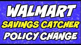 Walmart Savings Catcher Policy Update