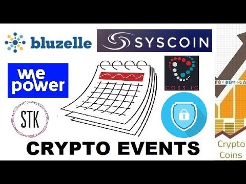 Upcoming Cryptocurrency Events (end of April) - Looking for Good Investments and Pumps