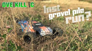 LAST Bash at the Gravel Pile?? | Traxxas E-Revo 2.0 | Running Footage | Overkill RC