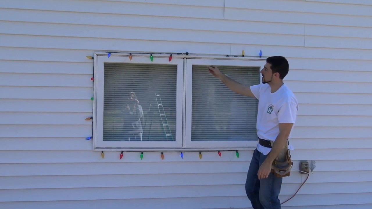 How To Professionally Install Christmas Lights Around A Window