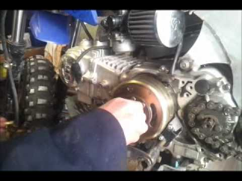 For Ssr 110 Atv Wiring Diagram How To Replace Stator Plate 110cc Pit Bike Youtube