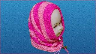 Снуд спицами для девочки. Вязание снуда спицами. Шарф снуд спицами. Снуд спицами. (Knitting scarf)
