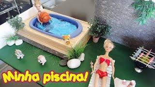 Como fazer uma piscina para bonecas Barbie & Monster High
