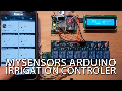 How To - Cheap, DIY Arduino Irrigation Controller with MySensors