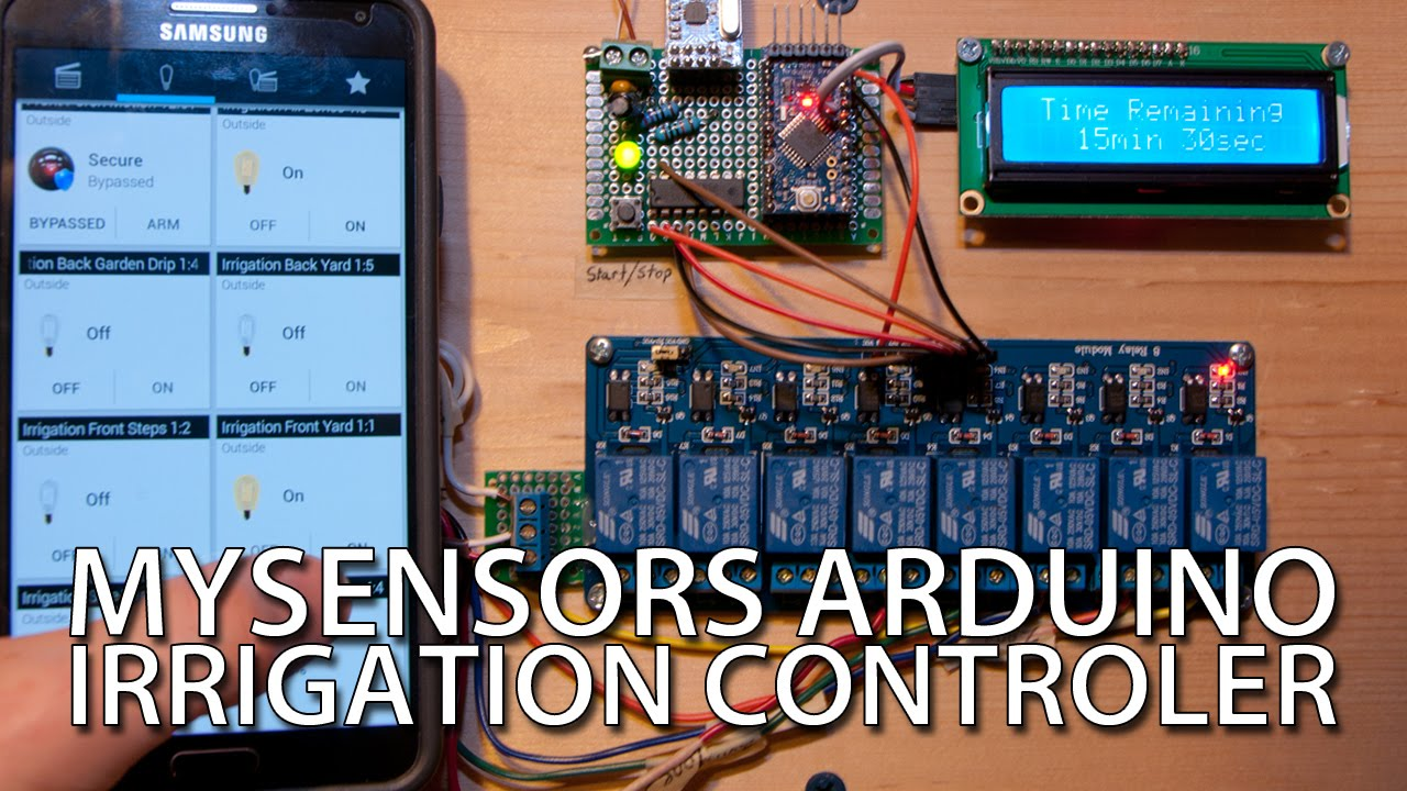 How To Cheap Diy Arduino Irrigation Controller With Mysensors Wiring Pump Relay Youtube