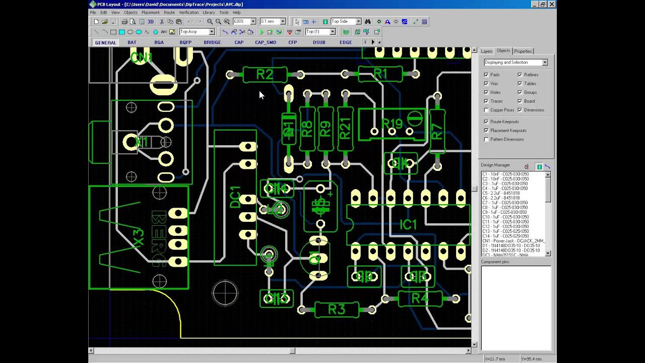 PCB editor. Using DipTrace, EAGLES, and others. - YouTube