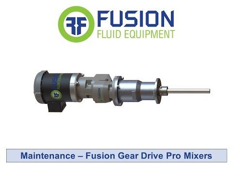 Maintenance - Fusion Gear Drive Pro Mixers