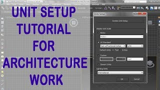 3ds max tutorial HINDI : How to set unit setup for Architectural modeling