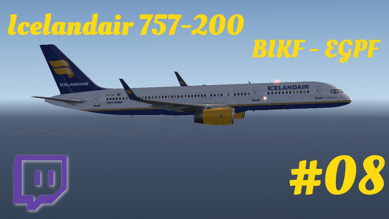 Icelandair 757 BIKF - EGPF [STREAM] (8/10)