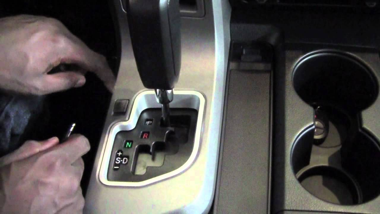 2012 Toyota Tundra Shift Neutral How To By City Youtube 2004 Sequoia Tailgate Handle