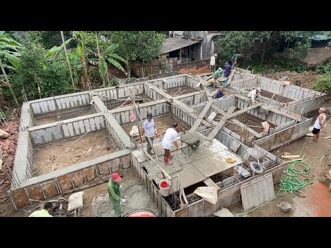 Low Cost House Construction Technology - Construction Techniques For Simple Foundation Beam Bearing