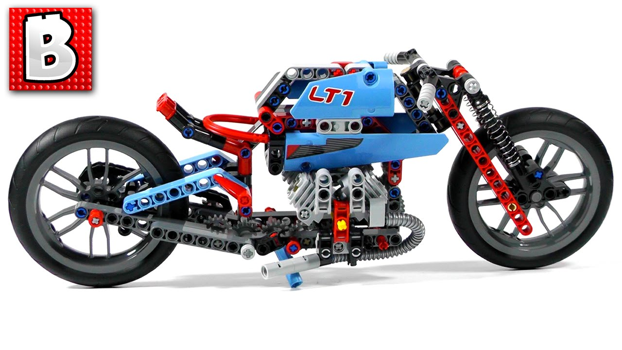 Lego Technic Street Motorcycle: Retro Bike Build Set 42036 | Unboxing  Building Time Lapse Review