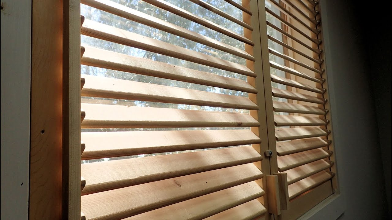 Wooden Window Shutters : Making wooden blinds final doovi