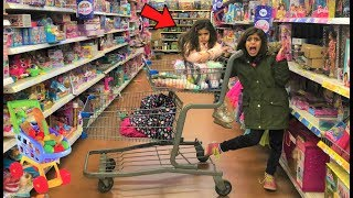 Kids Pretend play Shopping for Healthy Food and Toys!! funny video
