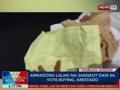 BP: Armadong lalaki na sangkot daw sa vote-buying, arestado sa Pagbilao, Quezon