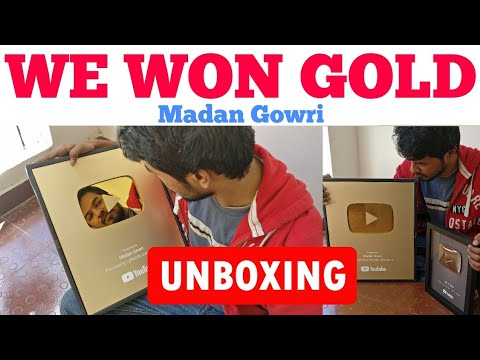 We Won Gold | Tamil | Madan Gowri | MG | Gold Play Button | One Million Subscribers | Unboxing
