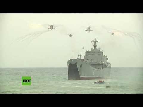 De Película: Soldados Rusos Ensayan Un Desembarco En La Costa Siria