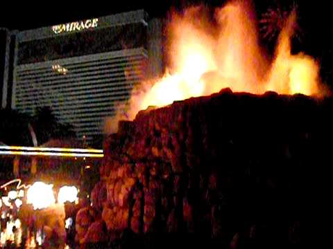 The Mirage Hotel Daily Las Vegas Volcanic Explosion Nevada USA Tourist Attraction