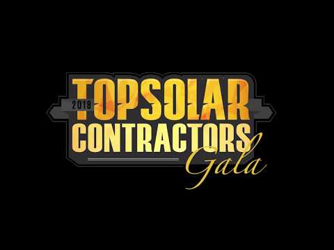 2018 Top Solar Contractors Gala Awards Presentation