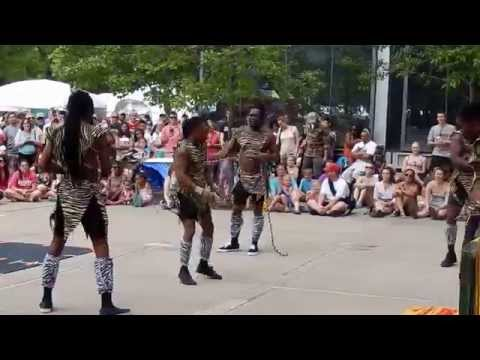 Zuzu African Acrobats at the Omaha Summer arts festival- Jumpin' rope