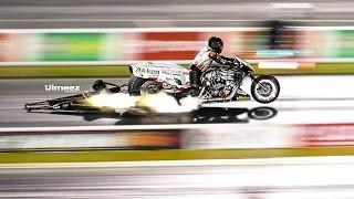 Nitro Top Fuel Harleys! Top Gas Harleys! Rt66 Burndown At Sundown!