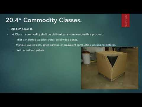 Storage Fire Protection-01-Commodity Classes-تصميم أنظمة مكافحة الحريق للمخازن-تصنيف الاشغالات