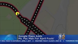 Google Maps Adds Ms. Pac-Man For April Fools' Day Free HD Video