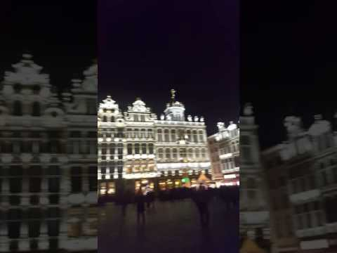Brussels Grand Palace at Night