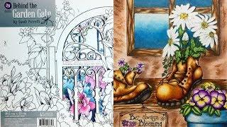 Раскраска антистресс Sandi Pirrelli 'Behind the Garden Gate'