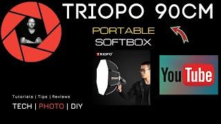 Triopo 90cm Portable Speedlight Softbox with Handle