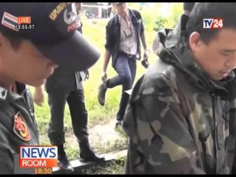 08-12-58 NEWSROOM 18.30 - ลอบวางระเบิด 4 ทหารพรานได้รับบาดเจ็บ