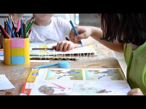 KIDS COLORING WITH CRAYONS AFTER EFFECTS TEMPLATE