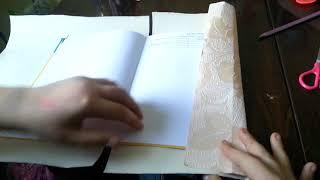 как сделать обложку из обоев для любого размера учебника! !)))