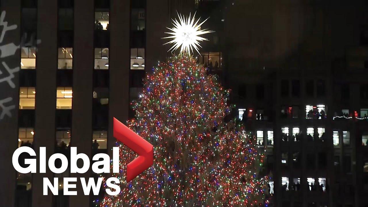 New York Lights Up The Rockefeller Christmas Tree
