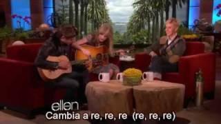 [SUBTITULADO] Dueto de Zac Efron y Taylor Swift en Ellen DeGeneres Febrero 2012