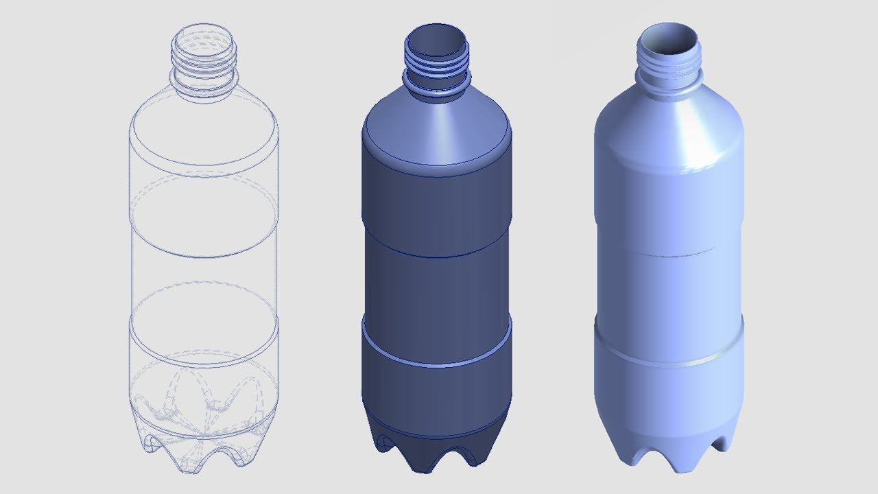 Worksheet. Modela una botella de plstico en inventor 2013  YouTube