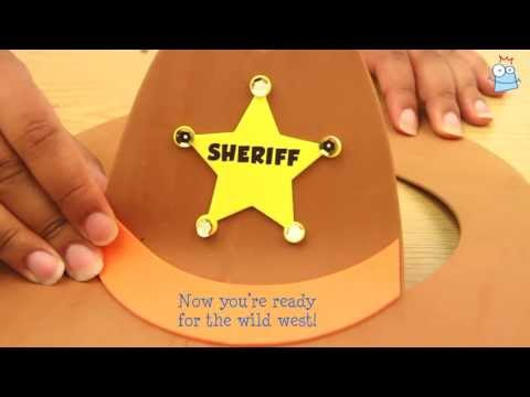 b52130a59 How to make a Kid's Cowboy Hat - YouTube