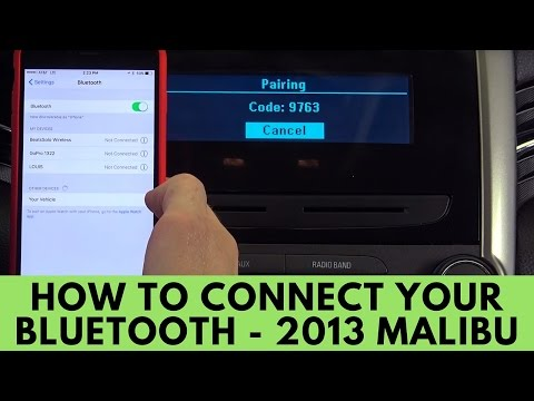 2013 Chevrolet Malibu: How to Connect Bluetooth