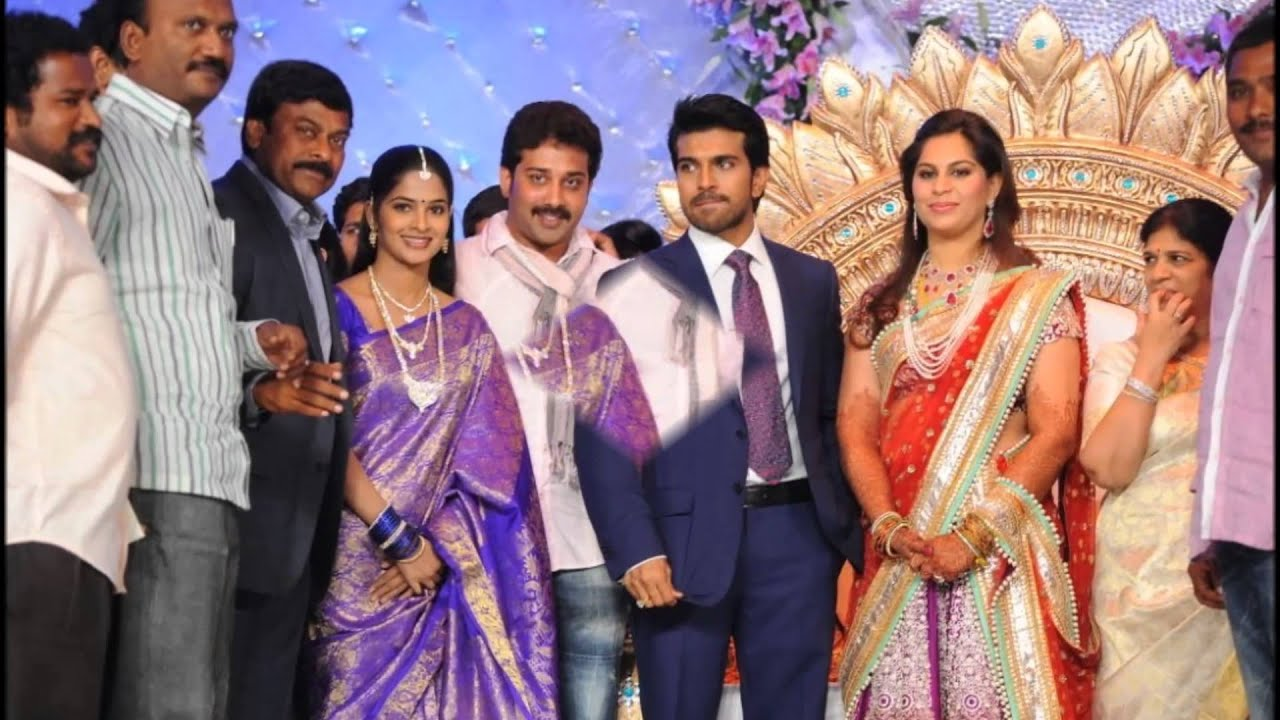Telugu Actor Siva Balaji With Wife Madhumitha At Ram Charan Wedding