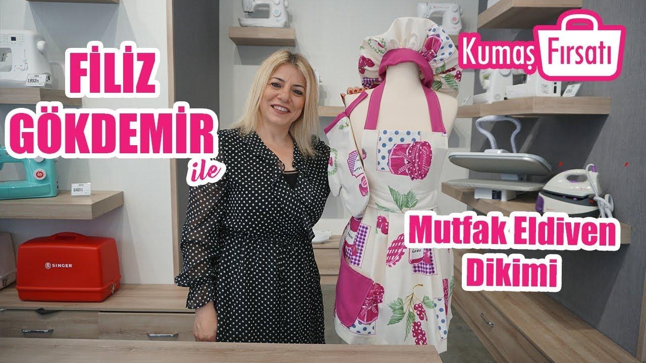 Kolay Mutfak Eldiveni Dikimi - Easy Kitchen Glove Sewing Without Pattern