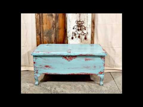 white-and-blue-distressed-furniture