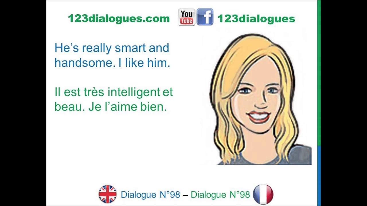 dialogue 98 english french anglais fran ais find a boyfriend trouver un copain youtube. Black Bedroom Furniture Sets. Home Design Ideas